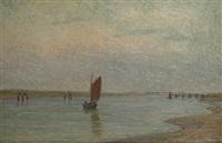 zeilboot te nieuwpoort by edgard farasyn