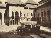 grenada, alhambra fontaine des lions by louis de clercq