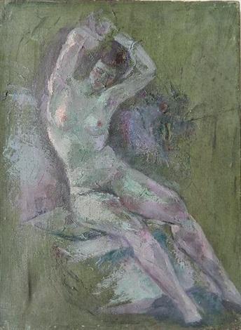 reclining nude by arthur bowen davies