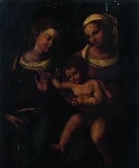 matrimonio mistico di santa caterina by innocenzo di pietro (da imola) francucci
