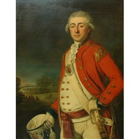 portrait of an officer (lieutenant colonel charles mercator brome walton?) by john francis rigaud