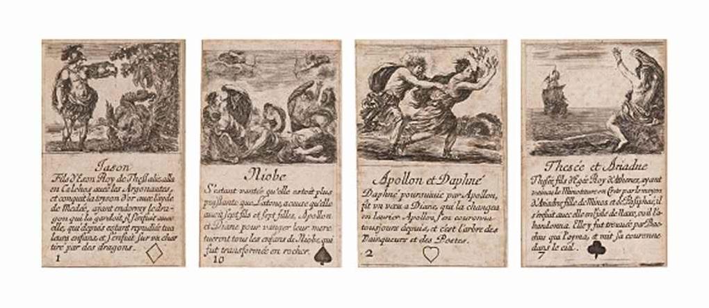 jeu de la mythologie set of 52 by stefano della bella
