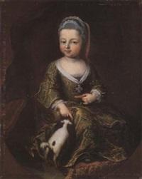 ritratto di fanciulla con cagnolino by frans van der myn