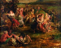 la kermesse flamande by sir peter paul rubens