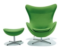 egg chair and stool (2) by arne jacobsen