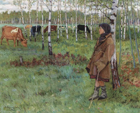 daydreaming among the birches by nikolai petrovich bogdanov belsky