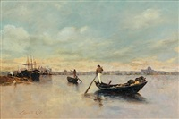 sandola dans la lagune, venise by egisto lancerotto