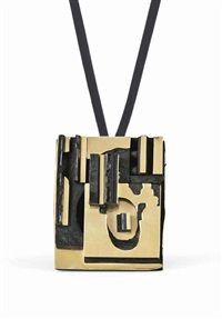 unique pendant/brooch by louise nevelson