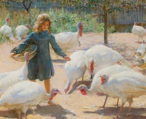 white turkeys by charles courtney curran