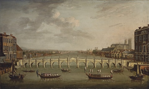 view of the thames, london by samuel scott