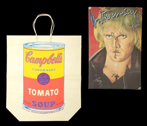 campbells tomato soup can by andy warhol