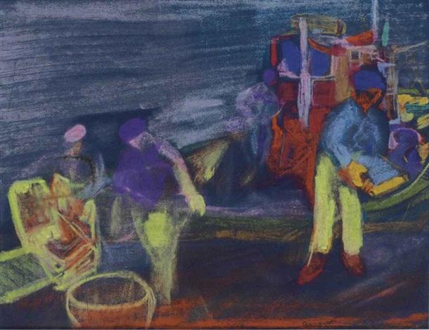 pêcheurs au guilvinec bretagne by farid aouad