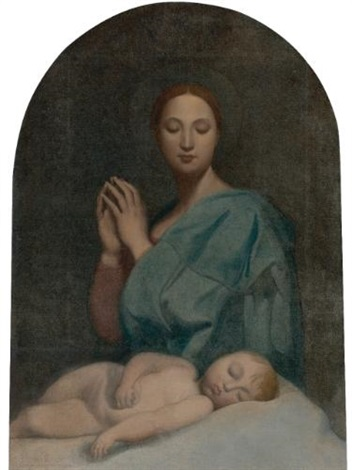 the virgin with the sleeping infant jesus by jean auguste dominique ingres