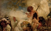 der kuss für die malerei by wilhelm simmler