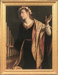 santa cecilia by orazio gentileschi