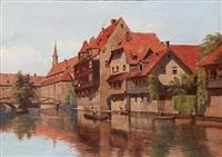 kanal i nürnberg by august fischer