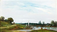 paysage fluvial by camille flers