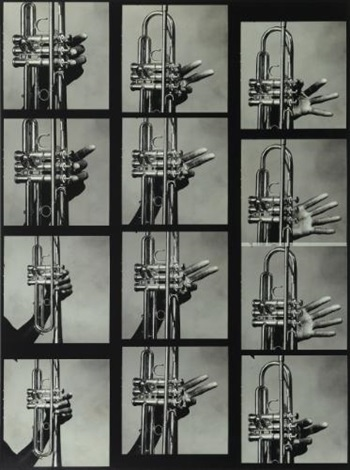 12 hands of miles davis and his trumpet, new york, july 1 by irving penn