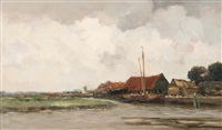 view of the polder canal by willem george frederik jansen