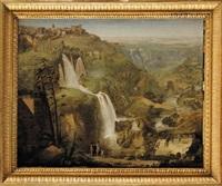 tivoli cascade cascatelle villa mécène campagne romaine by luigi basiletti