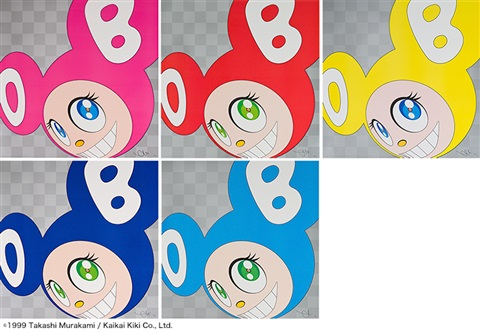 and then and then and then and then and then pink·red·yellow·blue·aqua blue 5 works by takashi murakami