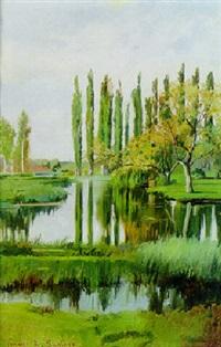 an italian landscape by francesco raffaello santoro