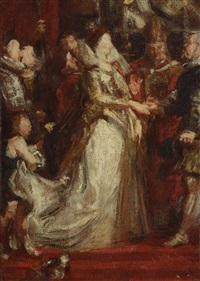mariage de marie de médicis (after pierre paul rubens) by sir peter paul rubens