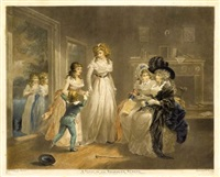 a visit to the child at nurse (+ a visit to the boarding school; pair after g. morland) by william ward