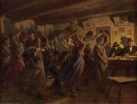 bäuerlicher tanzabend by wilhelm dachauer