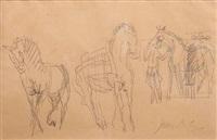 etude de chevaux by jean dufy