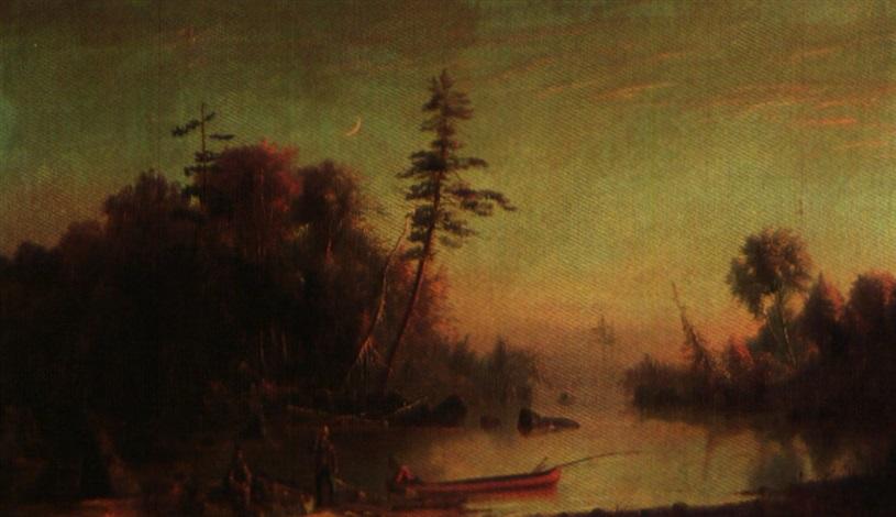 fishing on the muskoka river by joseph julius humme