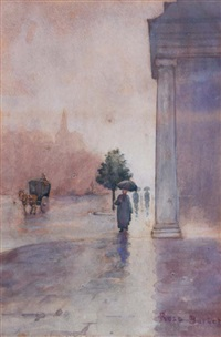 london winter street scene by rose maynard barton