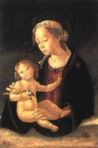 madonna col bambino by romano antoniazzo