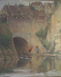 la fête du 14 juillet sur le pont by étienne auguste krier