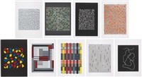 connections (set of 9) by anni albers