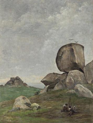 les roches en bretagne by edmond françois aman jean