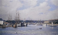 the harbour by paul louis frédéric liot