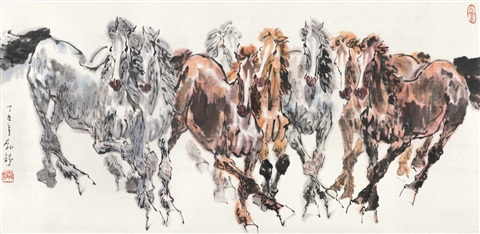 八骏图 eight horses by liu boshu