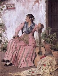 guitarrista by manuel arellano y campos