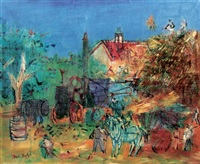 la moissonneuse-batteuse by jean dufy