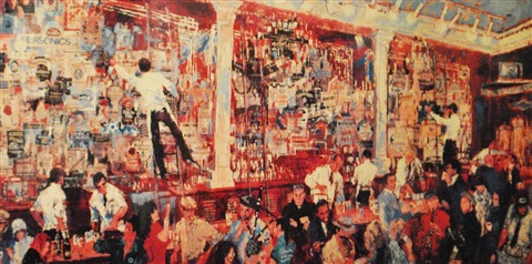 fx mcrorys whiskey bar by leroy neiman