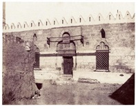 tombeau de mourad bey, entrée de la mosquée, souadj, égypte by félix teynard