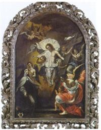 l'apparition du christ ressuscité à sainte thérèse d'avila et saint jean de la croix by jean-baptiste corneille