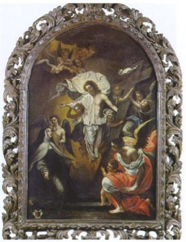 lapparition du christ ressuscité à sainte thérèse davila et saint jean de la croix by jean baptiste corneille