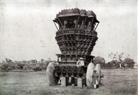 bunshunkuree. idol car with stone wheels (from architecture in dharwar and mysore) by thomas biggs
