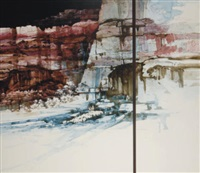 triptych: a canyon (2 works) by michael atkinson