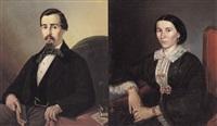 ritratto di gentiluomo (+ ritratto di gentildonna; 2 works) by giacomo benzi