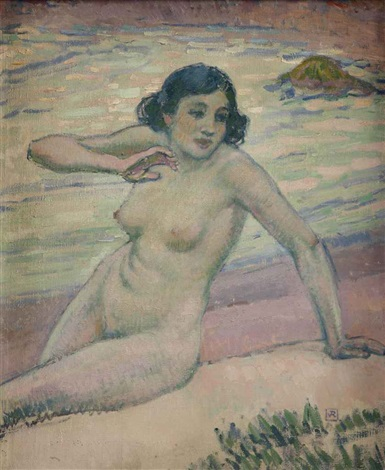 baigneuse by théo van rysselberghe