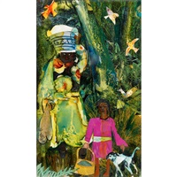 market day: mecklenburg county by romare bearden