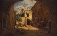 cortile con casolare by domenico ammirato
